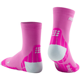 cep Ultralight Short Socks Women electric pink/light grey